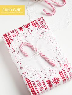 sweet package with a candy cane
