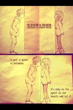 Top 30 love quotes with pictures. Inspirational quotes about love which might inspire you on relationship. Cute love quotes for him/her Cute Love Quotes, Long Distance Quotes, Long Distance Love, Monthsary Quotes Long Distance, The Words, Cute Couple Drawings, Cute Drawings For Him, Cute Couples, Sweet Couples