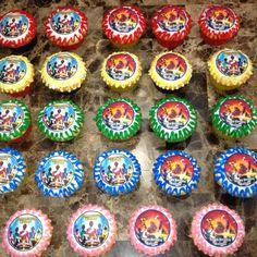Power Ranger Cupcakes