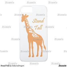 Stand Tall iPhone 7 Case #giraffe #animals #standtall #africa #quote