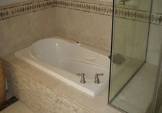 How to make a shower seat out of your whirpool tub platform.