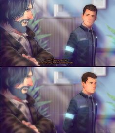 Detroit become human Connor and Hank By: angel-in-imagination.deviantart.com
