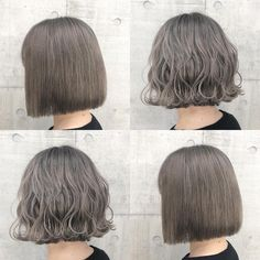 Short Wavy Hair, Girl Short Hair, Beige Hair, Ulzzang Hair, Ash Brown Hair, Hair Arrange, Permed Hairstyles, Grunge Hair, Hair Art