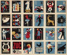Matchbox labels, Czechoslovakia