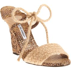 I can see this with a white sundress  MANOLO BLAHNIK  Cabbi  $745.00