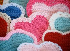 Sweet Crochet Hearts Pattern