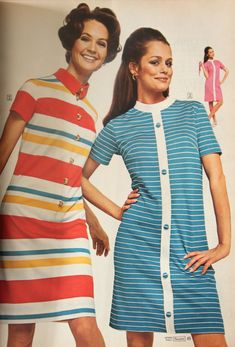 Plain Dress, Mod Dress, Mod Fashion, 1960s Fashion, 1960s Dresses, Vintage Dresses, Circle Dress, Dress Picture, Colorblock Dress