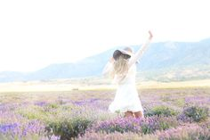 twirling in a lavender field, so your dress catches the scent, to permeate the room later