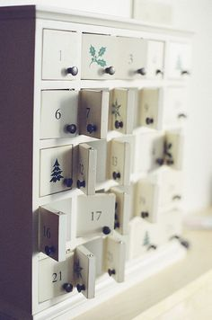 We love our advent calendar. It is very similar to this. The kids love it.