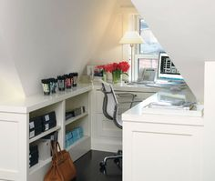 Would something similar work under front staircase as command center nook?