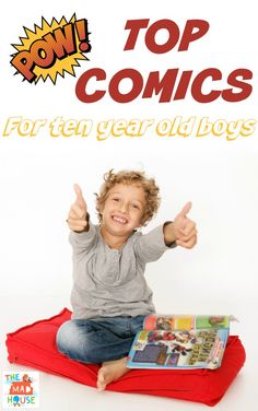 Top comics for ten year old boys. Do you have a reluctant reader? If so comics are a great way of getting kids reading and this is our top comics for ten year olds by ten year olds!