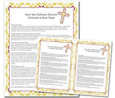 The Catholic Toolbox: How the Catholic Church Chooses a New Pope. Thank goodness I have this week off teaching - I'm going to replace my planned lesson with a new one about the papacy.