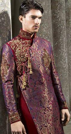 Groom Fashions Bollywood Bridal, Bollywood Fashion, Sherwani, African Fashion, Indian Fashion, Indian Groom Wear, Ethenic Wear, Hommes Sexy, Traditional Fashion
