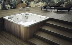 Modern Bathroom Inspiration - Glass- 6 seater hydromassage mini pool spa Informations About Modern Bathroom Inspiration Pin You ca - Piscina Spa, Mini Piscina, Jacuzzi Outdoor, Outdoor Spa, Patio Deck Designs, Pool Designs, Pool Spa, Spa Exterior, Whirlpool Deck