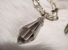 Smokey German Crystal Pendant/ Necklace for sale