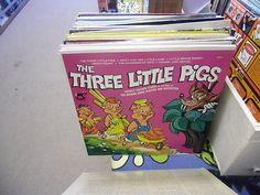 The Three Little Pigs Favorite Children Stories LP Rocking Horse Records VG+