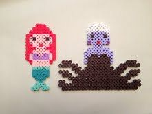 The Little Mermaid Ariel and Ursula Perler Beads by SongbirdBeauty