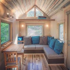 Love the couch. The new video tour of @simblissitytinyhomes is live on our website! Click the current link in our bio to learn more about the Blue Sapphire tiny house and Byron and Dot's completely off-grid tiny home building operation. This particular house is for sale by the way! Contact SimBLISSity Tiny Homes directly for more info. #tinyhouse #tinyhome #tinyhousetour