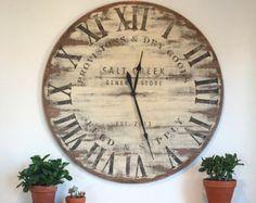Farmhouse Clock Co. Distressed Large Round by SaltCreekFarmhouse