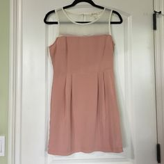 Forever 21 Blush Pink and White Sheer Dress Great condition! Forever 21 Dresses Mini