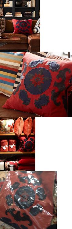 Pillows 20563: Pottery Barn Suzani Applique Pillow Cover Red 22 Cotton New -> BUY IT NOW ONLY: $59.5 on eBay!