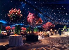 Starry draped ceiling