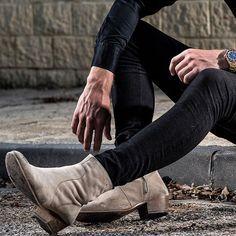 Contact: info@carlantonio.com #tan #suedeboot #footwear
