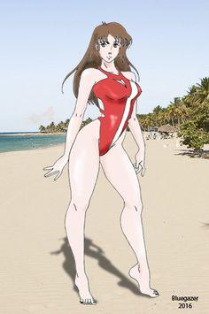 Misa Hayase 2016 Swimsuit and Beach by Neobgzer.deviantart.com on @DeviantArt