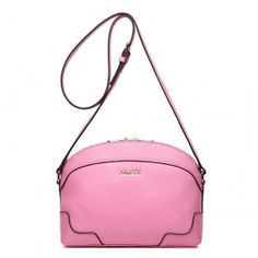 Genuine Leather Double Zipper Sweet lady Shoulder Bag