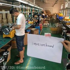 Our factory workers building more imotion boards.  Space chariot, Skywalker USA, Proglider, IO Hawk