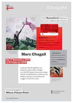 #ChagallMi a #PalazzoReale con #MuseoCard hai la riduzione sul biglietto alla mostra www.mostrachagall.it