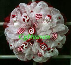 A Candy Christmas Wreath I made