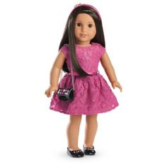 Merry Magenta Dress Outfit for 18-inch Dolls | Truly Me | American Girl