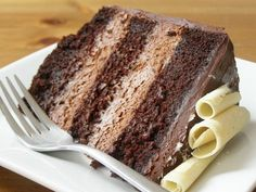 Vegan Double Chocolate Mousse Layer Cake. I didn't know it was possible to make a dairy-free mousse cake!