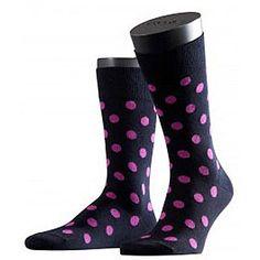 #polka men socks! http://blacksocks.com/