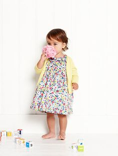 Adoreable Mini Boden baby girl outfit.  add belt and boots maybe some leggings. So cute.  #babygirl
