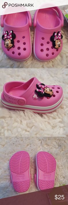 NWT Toddler CrocBand Crocs Party Pink Brand new with tags Party Pink CrocBand toddler Crocs size 4. So super cute and girly! You little girl is sure to love these! Never worn. Bought for my little girl but they're the wrong size for her. Smoke free home. CROCS Shoes