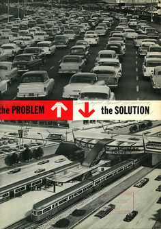 The problem/The solution (1959),  BART promotional brochure.    If only...