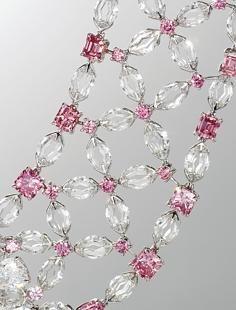 CU: Golconda Lotus Necklace by Nirav Modi http://www.NiravModi.com/#/about/rare-pieces/golconda-lotus-necklace/ made w/ white & pink doamonds (even the links are diamonds) sold for US$3.6 million at Christie's in 2010.