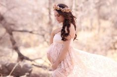 Lace Maternity Gown / Jennifer Gown / Sweetheart style maternity gown / lace gown / bridesmaid dress / senior photo shoot by SewTrendyAccessories on Etsy Maternity Poses, Maternity Portraits, Maternity Pictures, Pregnancy Photos, Maternity Dresses, Maternity Photography, Bohemian Maternity, Fall Maternity, Foto Baby