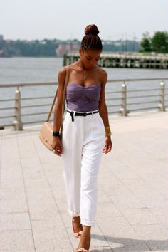 Style Tips - White pants and how to use them in summer