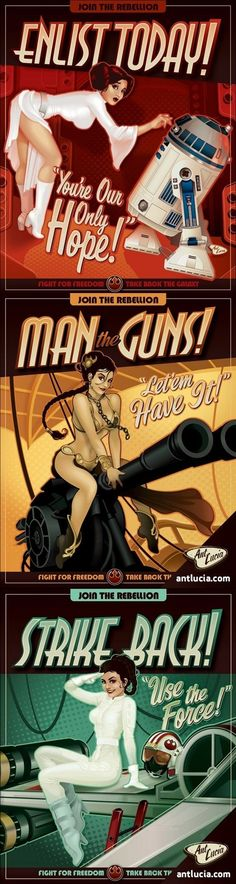Star Wars pin-up style AD
