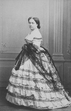 """""""ca. 1857"""" Elisabeth de La Croix de Castries, la maréchale de Mac Mahon by Sergei Lvovich Levitsky (Musée d'Orsay - Paris France)"""