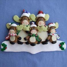Personalizable Moose Family Christmas by SnickerdoodleGirlz