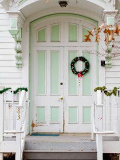 Christmas door...