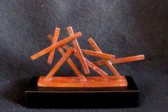 "Cast Bronze ""Mini Monument"" by New York Artist Seena Donneson Abstract Sculpture, $750.00 www.springgallerymaine.com, www.modernartfoundry.com"