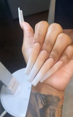 Acrylic Nails Coffin Pink, Pink Ombre Nails, Coffin Nails Long, Ongles Bling Bling, Bling Nails, Aycrlic Nails, Dope Nails, Swag Nails, Manicures