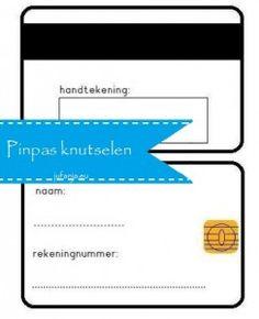 Maak je eigen pinpas  (met naam, rekeningnummer en handtekening)  jufanja.eu