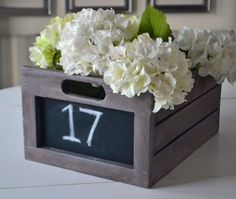Chalkboard Produce Crate DIY Project and Furniture Plans Easy Diy Projects, Wood Projects, Woodworking Projects, Furniture Plans, Diy Furniture, Office Furniture, Diy Chalkboard, Wooden Crates, Wine Crates
