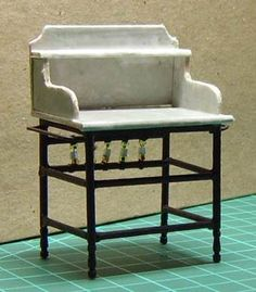 Old fashioned wash (toiletries) stand for dollhouse/Miniature- thorough tutorial Z